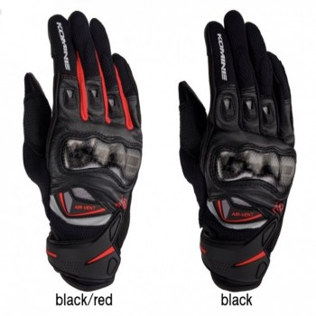 Komine GK224 Carbon Protect Leather Mesg Gloves - Găng tay Komine