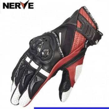 Nerve KQ1029 Leather Carbon - Găng tay da