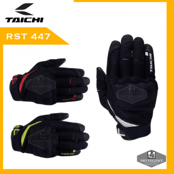 Taichi RST447 Rubber Knuckle Mesh Gloves - Găng Tay Moto