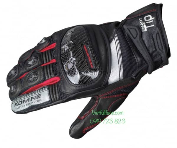 Găng tay Komine GK-193 Protect Leather Mesh Gloves